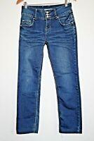 Gouse Fashion Jeans Wear Designer Woman's Navy Blue Cotton Blend Trousers 29 W