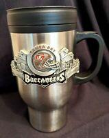 Tampa Bay Buccaneers NFL Stainless Steel 16 oz. Travel Mug w/Bucs Emblem