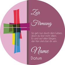 Tortenaufleger Firmung2 lila mit Wunschtext / 20 cm Ø