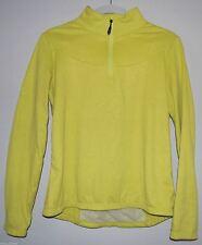 LOLE Women's Lime Green Yellow 1/4 Zip Fleece Shirt Jacket Size Medium