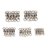 20Pcs ball bearing swivel with solid ring fishing rolling swivel connector EO