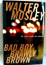 BAD BOY BRAWLY BROWN Walter Mosley AUTHOR-SIGNED w/Dust Jacket MINT 1st Edit
