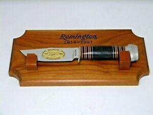 Remington Knives USA RH33C 175th Anniversary Hunter fixed blade knife & stand