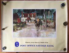 Original Vintage Post Office Poster c1950 Hurst Reading 117 x 92 cm *[13207]