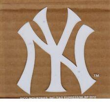 "NEW YORK YANKEES NY WHITE Logo 3.25"" X 3.75"" Inside WINDOW STATIC CLING / DECAL"