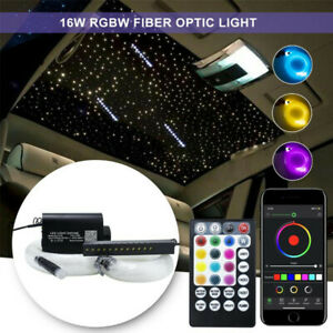 Bluetooth APP Control Car Fiber Optic Lights Star Lamp 16W RGBW 300Pcs 2M Cable