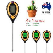 For Garden Plant Lawns 4 in 1 Soil PH Tester Moisture Sunlight Light Test Meter