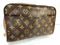 LOUIS VUITTON Monogram Orsay Clutch Bag M51790 LV Y1310 JUNK