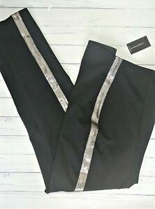 nwt ashley stewart MIRACLE metallic silver stripe legging pants 22/24