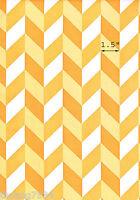 Orange White Geometric Stripe Vinyl Contact Paper Shelf Drawer Liner Peel Stick