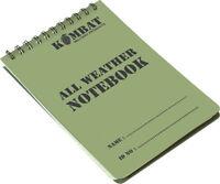 3x A6 Folder Binder Waterproof Note Pad Paper Military Army SAS Cadet