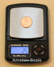 1000 x 0.1 GRAM DIGITAL POCKET SCALE GRAIN CARAT TROY OUNCE RELOAD COIN SILVER