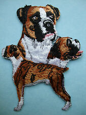 IRON-ON EMBROIDERED PATCH - BOXER MONTAGE - DOG