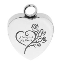 Always In My Heart Pendant Pet Human Urn Holder Cremation Jewelry for Ashes