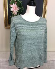 Anthropologie Sparrow Green Pullover Sweater Small Cotton Wool Mohair Cashmere