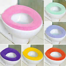 Soft Washable Toilet Seat Pad Lid Top Cover Closestool Bathroom Warmer Jf