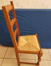 Chaise rustique paillée x 3