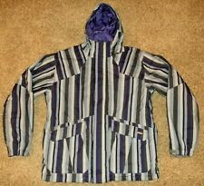 Burton System mens sz XL hooded Jacket purple gray striped Snowboard Jacket EUC