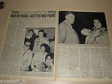 MINA mazzini cantante clipping ritaglio articolo foto photo 1963