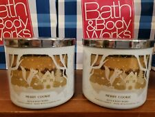 Bath & Body Works MERRY COOKIE 3-Wick Candle X2