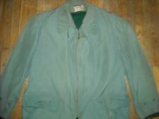 VTG 60S MENS 44 BLUE McGREGOR CLICKER CRUISER CAR CLUB ROCKABILLY RAIN JACKET