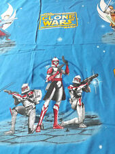 Vintage STAR WARS TWIN FLAT Sheet Bedding The CLONE WARS Material