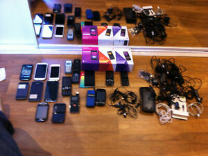 BULK LOT OF PHONES, GalaxyS5, SIII,S, Galaxy FiT, Iphone 5, Iphone 1, HTC,+++