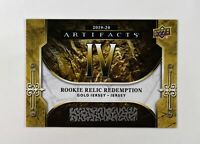 2019-20 UD Artifacts Roman Numeral Gold RC Relic Redemption #IV /150