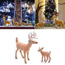 Brown Deer Figure Christmas Doll White-tailed Reindeer Home Party Xmas Decor bid