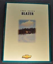 1997 Chevrolet Blazer Truck Brochure LS LT 4x4 Excellent Original 97 Canadian