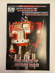 IDW: TRANSFORMERS: THE DEATH OF OPTIMUS PRIME: NM CONDITION: A-COVER