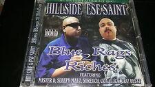 HILLSIDE & ESE SAINT BLUE RAGS 2 RICHES MISTER D CHICANO RAP CD