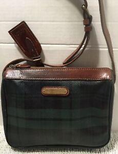 Polo Ralph Lauren VintageBlack Watch Tartan Plaid Crossbody Shoulder Handbag Sm