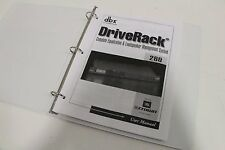 dbx DriveRack 260 Equalization & Loudspeaker Management System MANUAL
