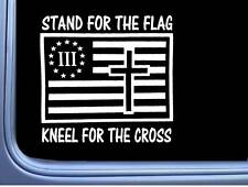 Stand for the Flag Cross L567 6 inch decal American three percenter sticker