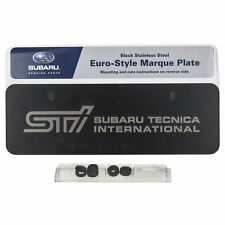 OEM Subaru STI Front Euro-Style License Marque Plate Stainless Steel SOA342L133