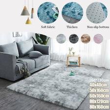 Fluffy Large Rugs Anti-Slip SHAGGY RUG rainbow Super Soft Mat Living Room Floor