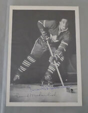 1960-61 York Peanut Butter HOF Maple Leafs Frank Mahovlich Signed Premium Photo