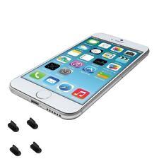 4 bouchons anti-poussière pour iPhone 7  ( Noir )