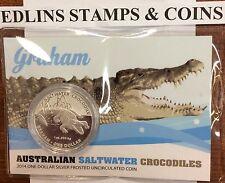 2014 $1 1oz 999 Silver Australian Saltwater Crocodile Carded Specimen 'Graham'