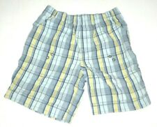 Wonder Kids Plaid Blue summer Shorts 4t Boys