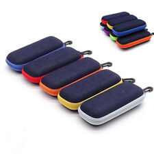 Glasses Hard Case Box Sunglass Protector Zipper Eyeglass  with Clip Hard  Travel