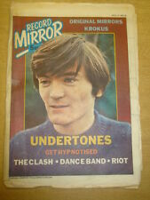 RECORD MIRROR 1980 APR 19 FEARGAL SHARKEY UNDERTONES CLASH DANCE BAND RIOT KISS