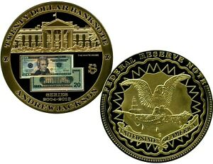 $20 ANDREW JACKSON BANKNOTE COMMEMORATIVE COIN LUCKY MONEY VALUE $99.95