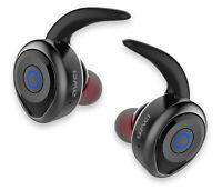 AURICOLARE BLUETOOTH STEREO SPORT SENZA FILI Cuffie Wireless con Microfono Nero