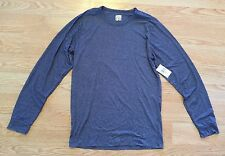 NWT Mens WEATHERPROOF Heather Navy Long Sleeve 32 Degrees Top Scoop Neck Shirt S