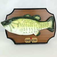 Original 1999 Gemmy Big Mouth Billy Bass Singing Fish Decor Works partially