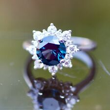Created London Blue Topaz Ring Solid Sterling Silver 925 , December birthstone