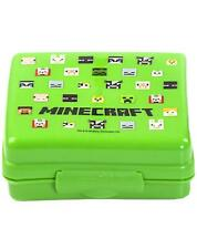Minecraft Characters Green Plastic Sandwich Container/Snack Pot