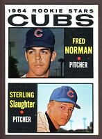 1964 Topps Baseball #469 Fred Norman / Sterling Slaughter Cubs Rookies - ID008